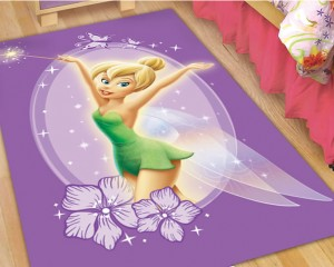 Tinkerbell Mat And Rugs For The Kids Bedroom Or Play Area