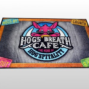 Carpet Dyed Branded Mat 120 x 180cm Hogs Breath Cafe